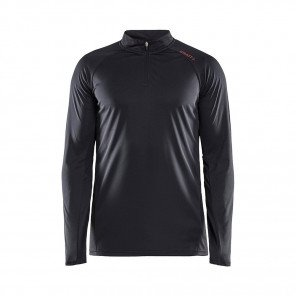 CRAFT Tee-Shirt Manches Longues Eaze Col Zippé Homme | Noir