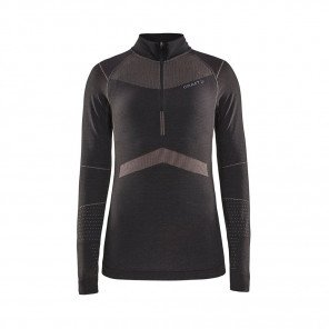 CRAFT Maillot Manches Longues Active Intensity Col Zippé Femme | Asphalt