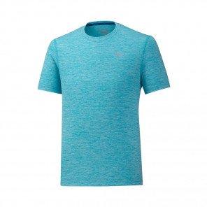 MIZUNO Tee-Shirt manches courtes IMPULSE CORE Homme | Peacock Blue | Collection Printemps-Été 2019
