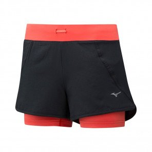 MIZUNO Short Trail 2en1 MUJIN 4.5 Femme | Hot Coral | Collection Printemps-Été 2019